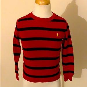 Red & Navy Stripe Polo Shirt